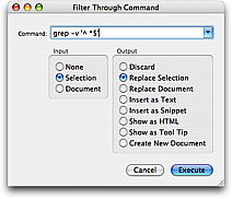 Filter Through Command