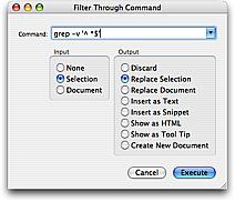 Filter Through Command