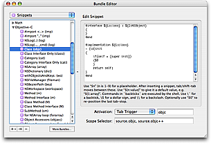 Snippet Editor