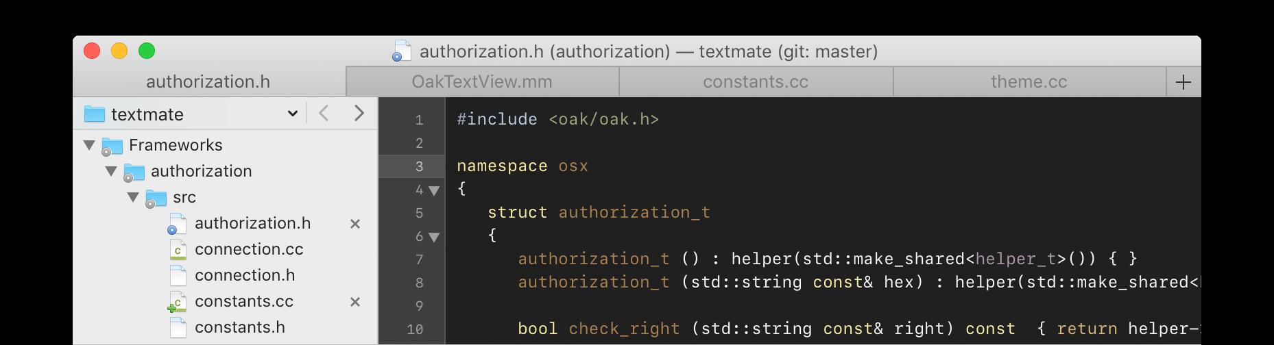 TextMate Mac 破解版 多用途的纯文本编辑器