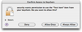 Keychain Access From Application