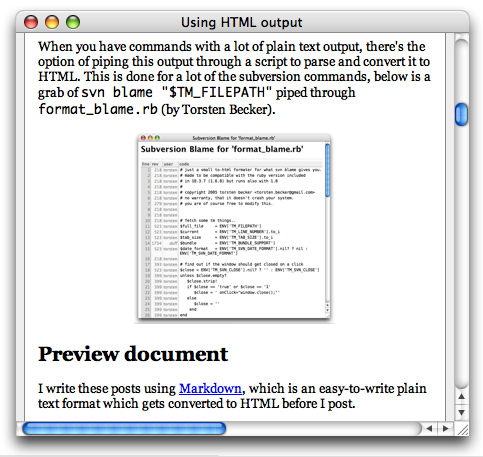 Markdown Preview Output