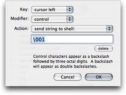 Terminal Key Editing
