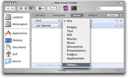 Finder Smart Folder